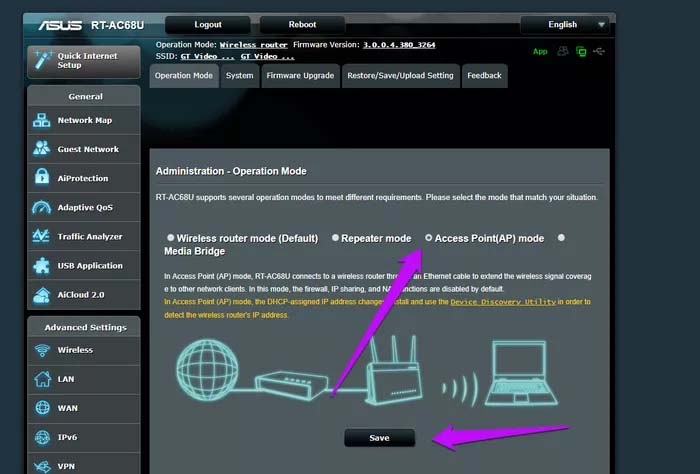 How To Setup Asus Router as Access Point